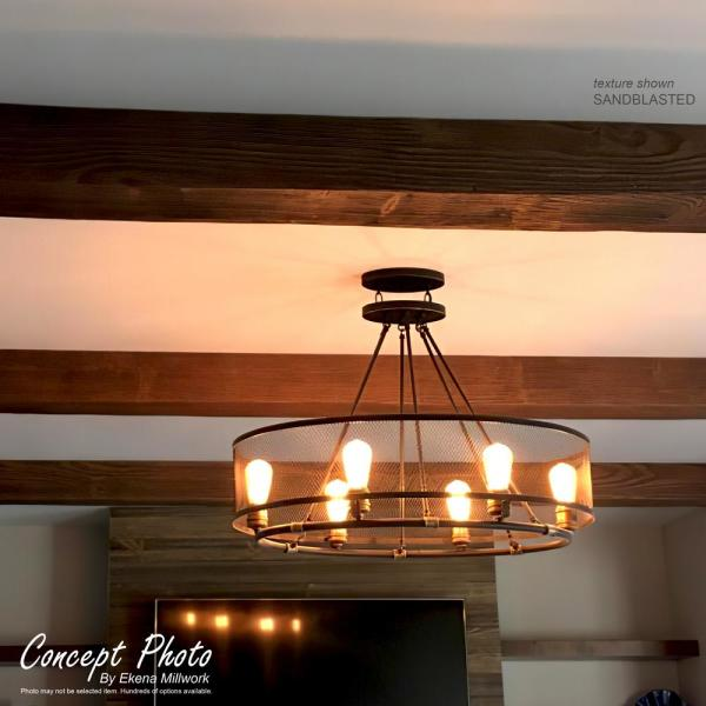 U Pecky Cypress Endurathane Faux Wood Ceiling Beam, Pecan, x x Ekena Millwork BMPC3C0080X060X120PE 8 W x 6 H x 10L 3-Sided