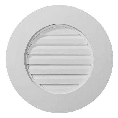 2 in. x 20 in. x 20 in. Functional Round Gable Louver Vent