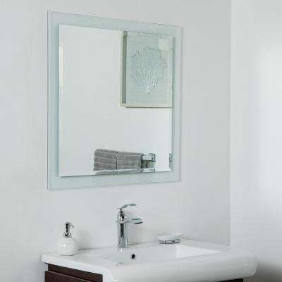 30 in. x 30 in. Square Encore Frameless Bathroom Wall Mirror with Beveled Edge