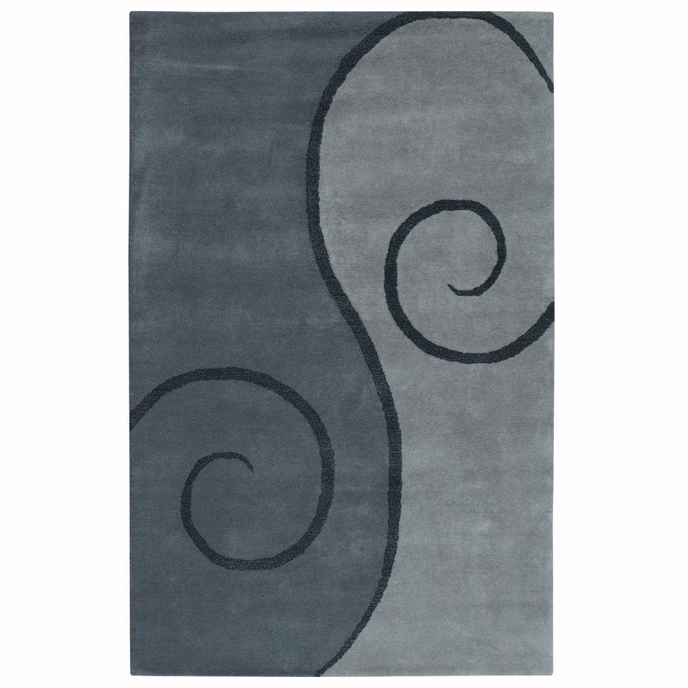 Home Decorators Collection Swirl Grey 3 ft. 6 in. x 5 ft. 6 in. Area Rug