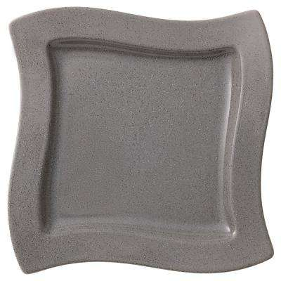 New Wave Gray Stone Porcelain Square Salad Plate