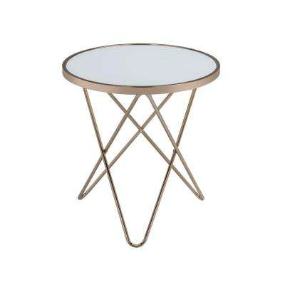 Valora Champagne and Frosted Glass Top End Table
