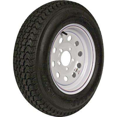 ST205/75D-14 K550 BIAS 1760 lb. Load Capacity White with Stripe 14 in. Bias Tire and Wheel Assembly