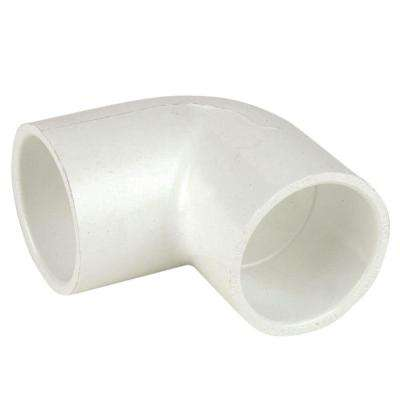 1 in. Schedule 40 PVC Pipe 90-Degree Elbow Fitting - Slip x Slip (10-Pack)