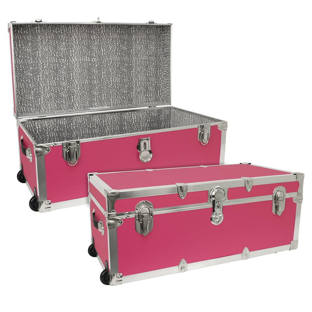 Seward Trunk Seward Modern Collection Pink Storage Trunk  sc 1 st  Home Depot & Seward Trunk Seward Modern Collection Pink Storage Trunk-SWD7130-22 ...