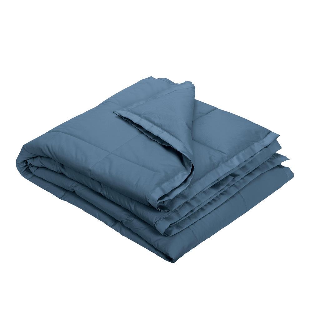 LaCrosse Down Smoke Blue Cotton King Blanket