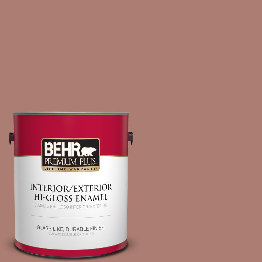 1 gal. #PPU2-11 Mars Red Hi-Gloss Enamel Interior/Exterior Paint