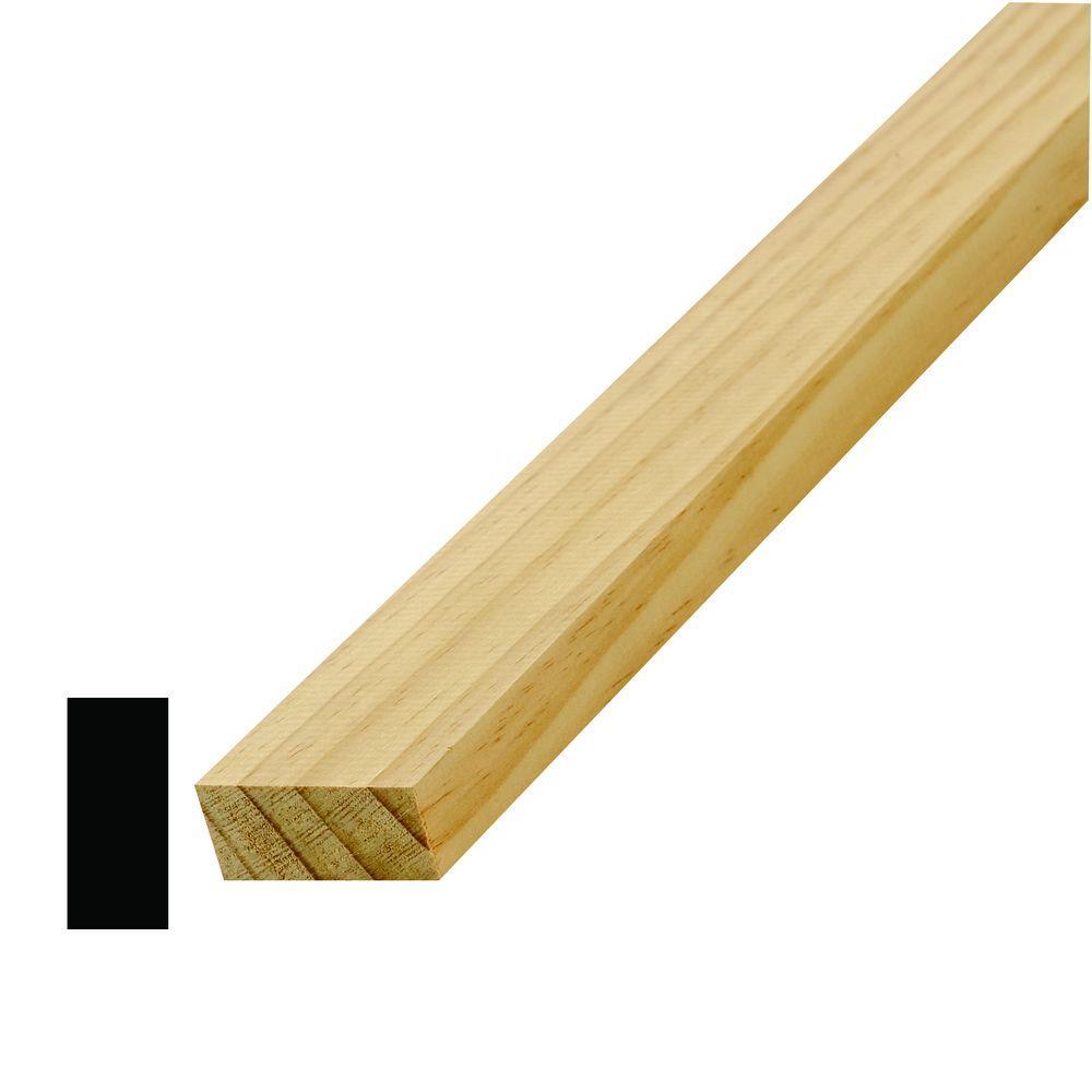 LWM 249 11/16 in. x 1-5/8 in. Pine S4S Moulding
