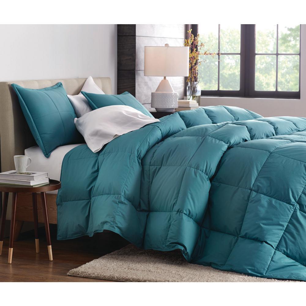 LaCrosse LoftAIRE Light Warmth Teal Twin Down Alternative Comforter