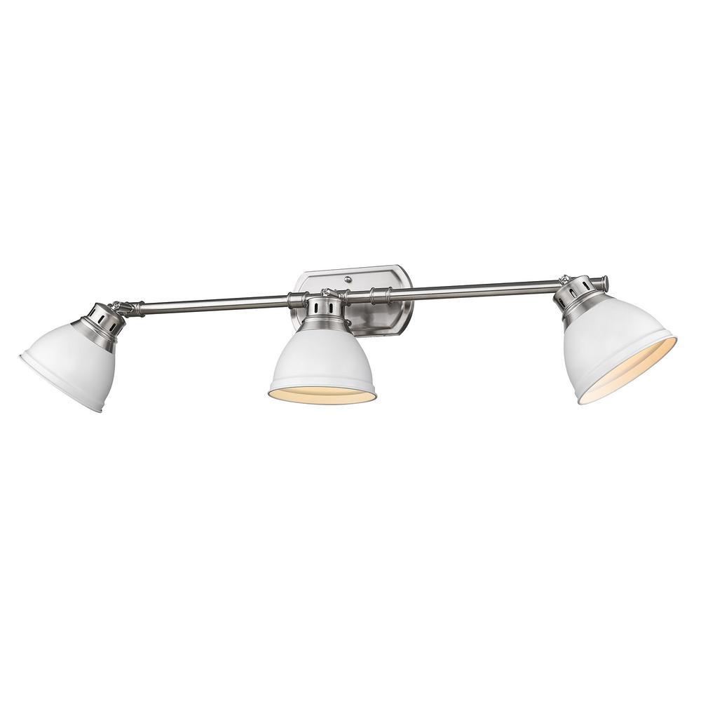 Duncan 8.25 in. 3-Light Pewter Vanity Light