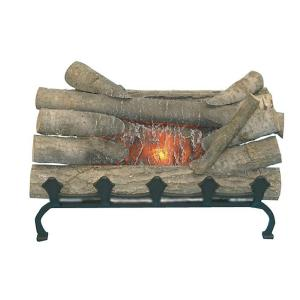 Insert this Electric Crackling Log Set from Unbranded in to any fireplace. Convenient to install and replace existing wood grate.