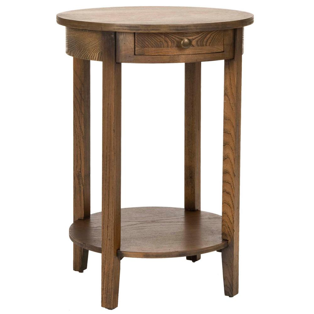 Oak End Tables With Storage ~ Safavieh hannah medium oak storage end table amh a