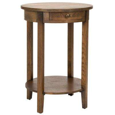 Hannah Medium Oak Storage End Table