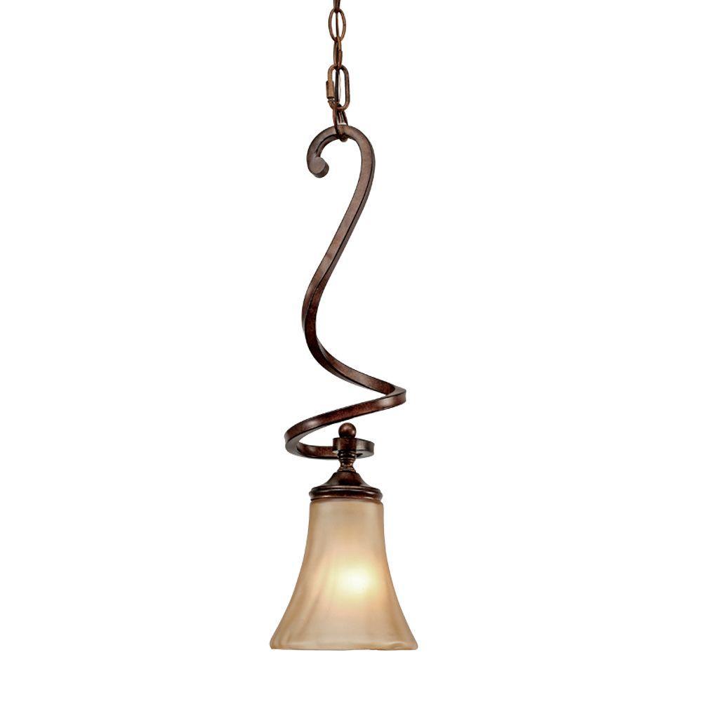 Loretto Collection 1-Light Russet Bronze Mini Pendant