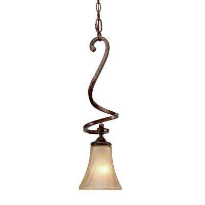 Sieva Collection 1-Light Russet Bronze Mini Pendant