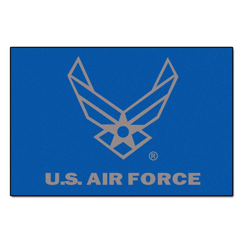 U.S. Air Force 4 ft. x 6 ft. Area Rug, Team Colors