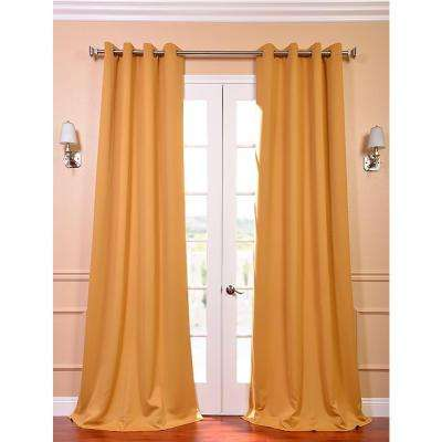 Semi-Opaque Marigold Grommet Blackout Curtain - 50 in. W x 96 in. L (Panel)