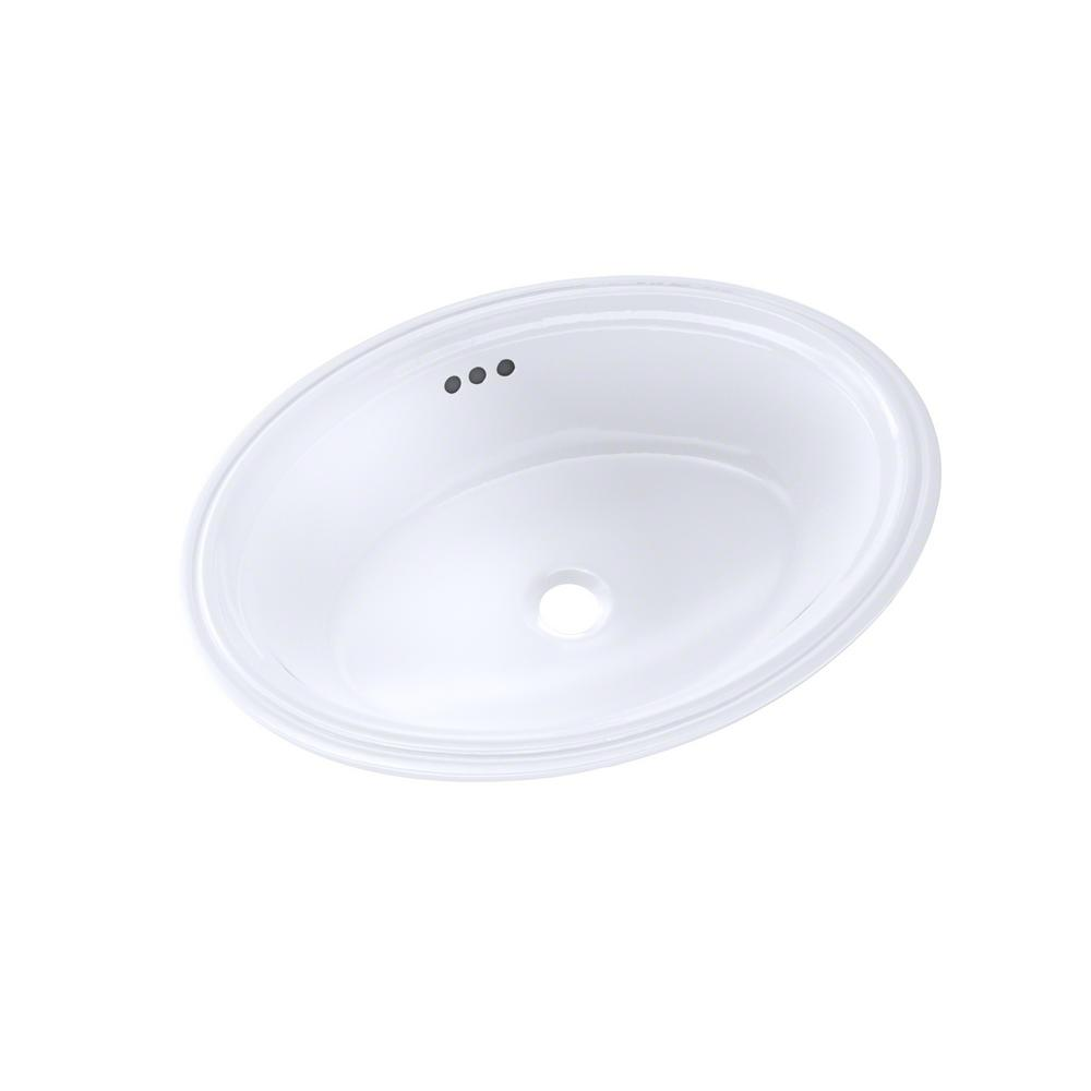 Toto Dartmouth 19 In Undermount Bathroom Sink In Cotton White Lt641 01 The Home Depot
