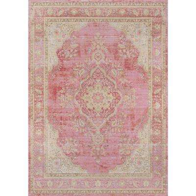 Isabella Pink 5 ft. 3 in. X 7 ft. 3 in. Indoor Area Rug