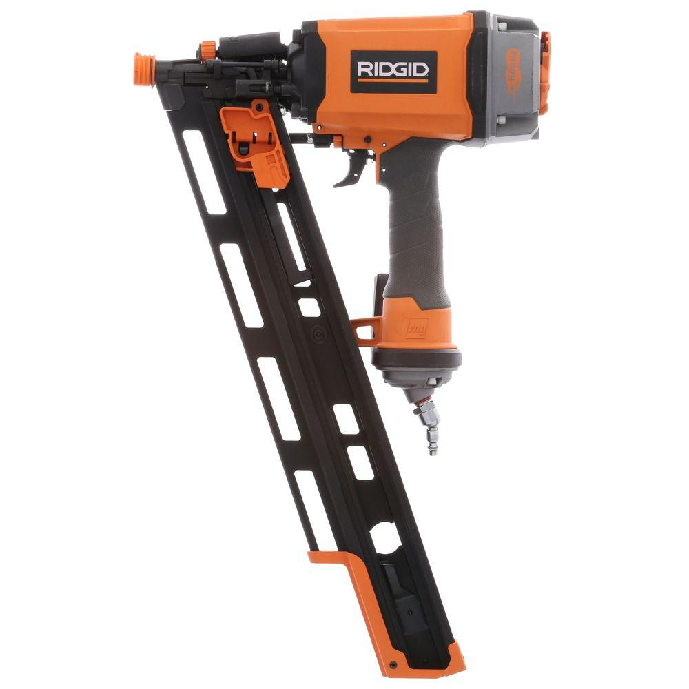RIDGID Reconditioned 3-1/2 in. 21 Degree Round-Head Nailer