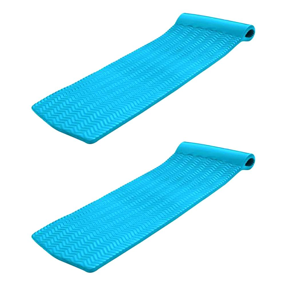 Texas Recreation Serenity 70 In 2 Pack Foam Mat Raft Lounger Pool Float Teal