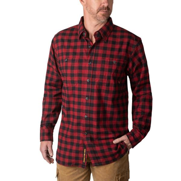 Reviews For Walls Outdoor Goods Men S Longhorn Midweight Brushed Flannel Stretch Work Shirt Yl860brp Xl The Home Depot