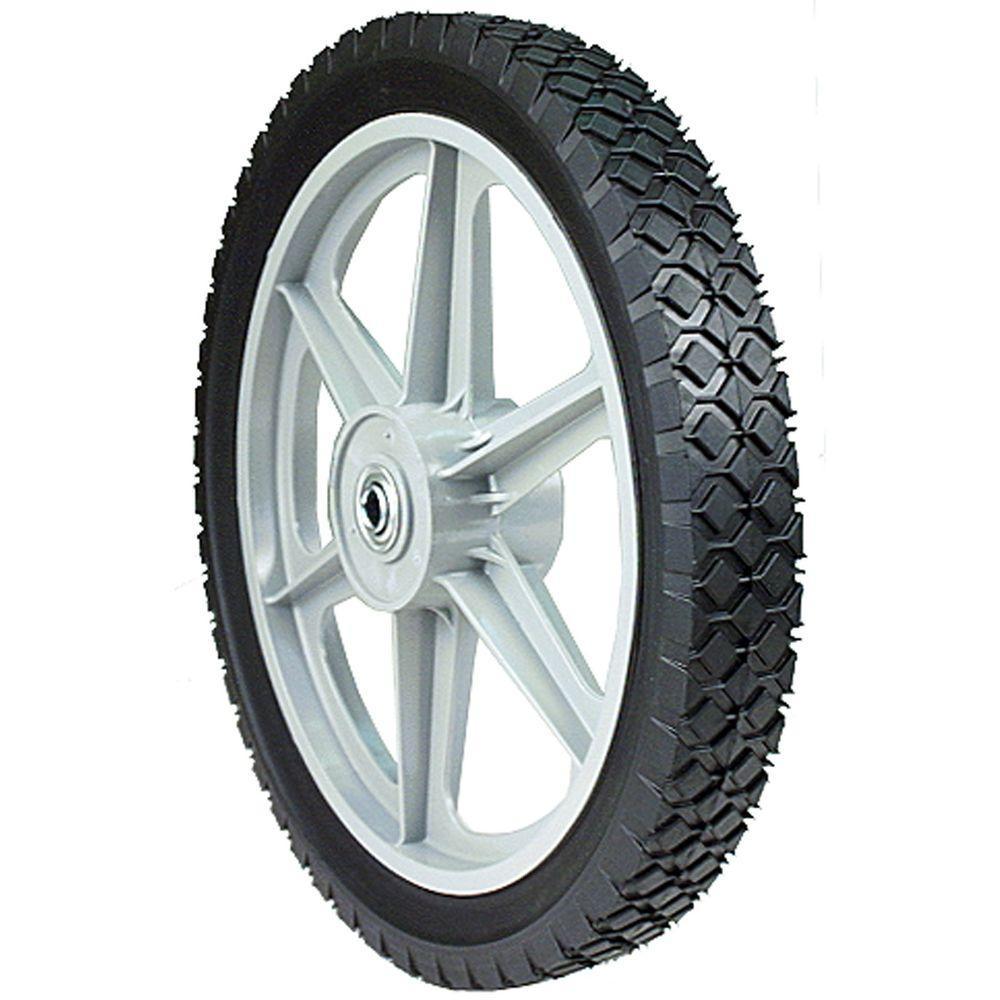 14 in. x 1.75 in. Plastic Spoked Wheel