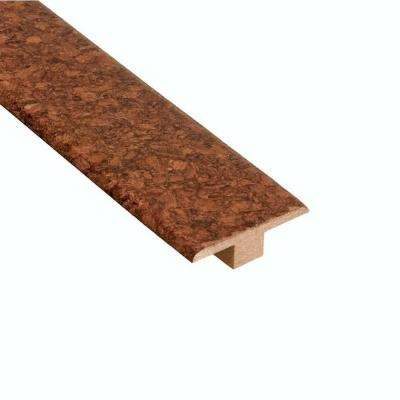 Mocha 1/4 in. Thick x 1-3/4 in. Wide x 47 in. Length Cork T- Molding