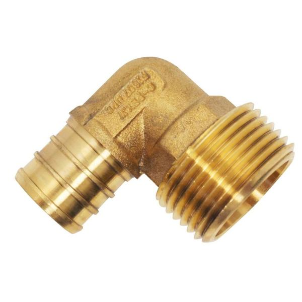 Pack of 2 Joywayus 90-Degree Male Elbow Pipe Fitting Forged Brass 90 Degree Right Angle 3//4 Male x 3//4 Male