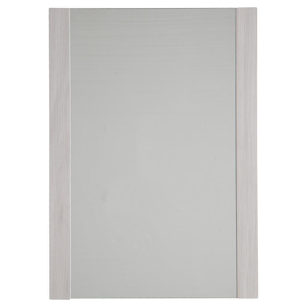 20 in. x 28 in. Single Framed Wall Mirror in Elm