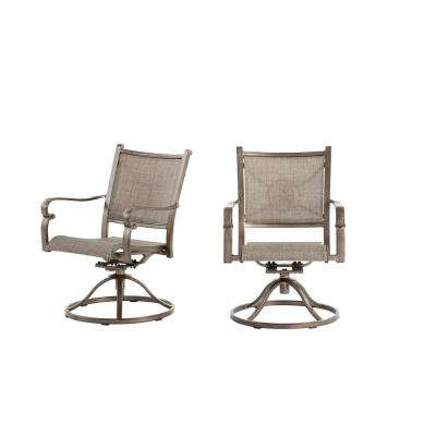 Home Decorators Collection Wilshire Estates  Aluminum Sunbrella  Sling Swivel Outdoor Dining Rocker  (Chair 2-Pack)