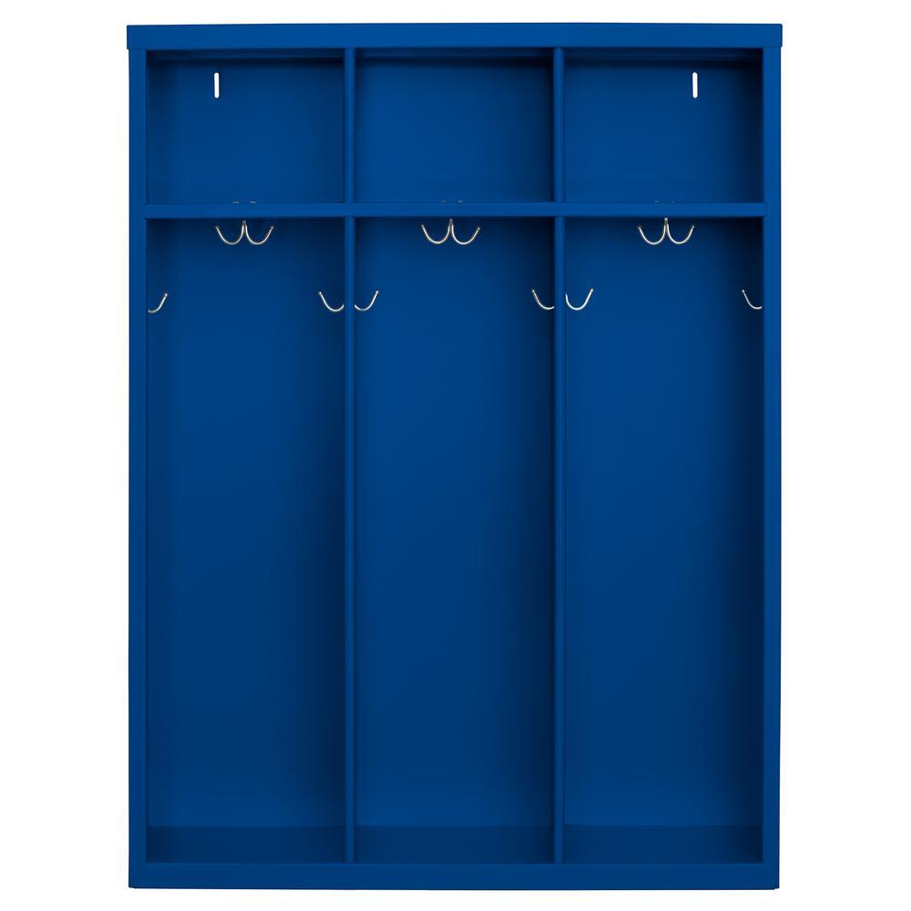 1-Shelf Steel Open Front Kids Locker in Blue