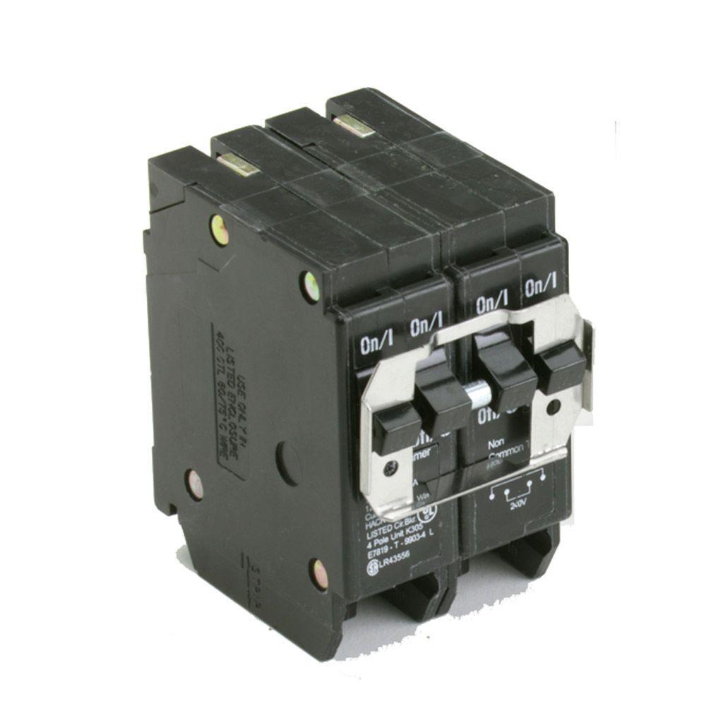 15 Amp Double-Pole Type BR and BQC Quad Breaker