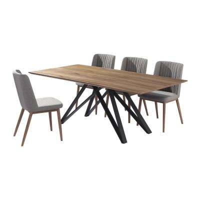 Wade 5-Piece Walnut Dining Set