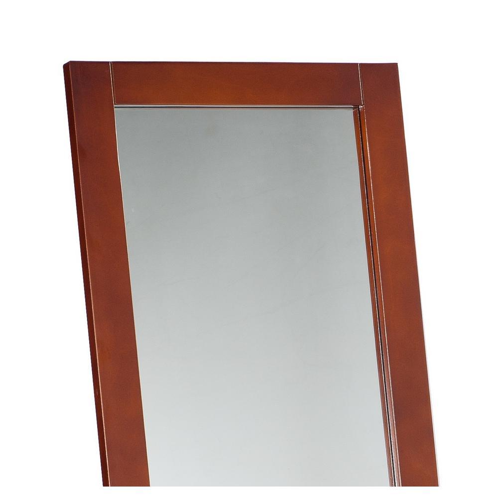Brown Wood Frame Easel Floor Mirror