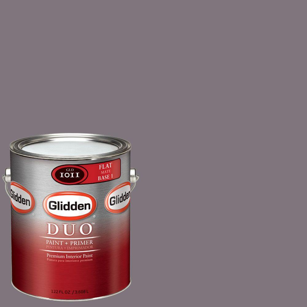 Glidden DUO Martha Stewart Living 1-gal. #MSL181-01F Fig Flat Interior Paint with Primer - DISCONTINUED