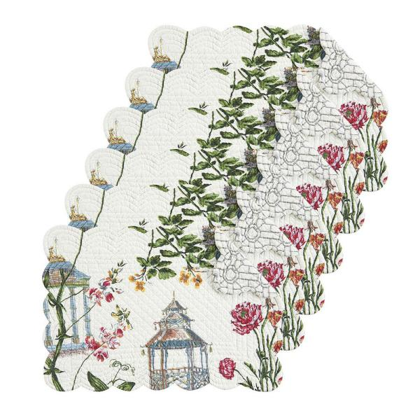 C & F Home Garden Folly White Placemat (Set of 6)