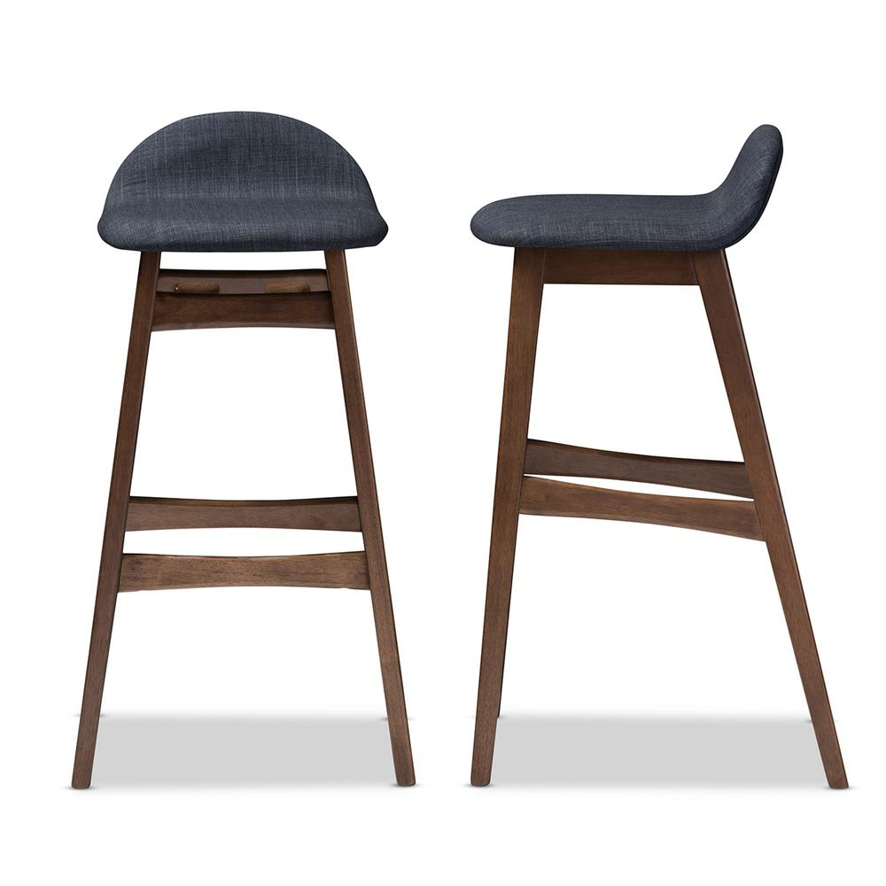 Terrific Baxton Studio Bloom Dark Blue Fabric Upholstered 2 Piece Bar Inzonedesignstudio Interior Chair Design Inzonedesignstudiocom