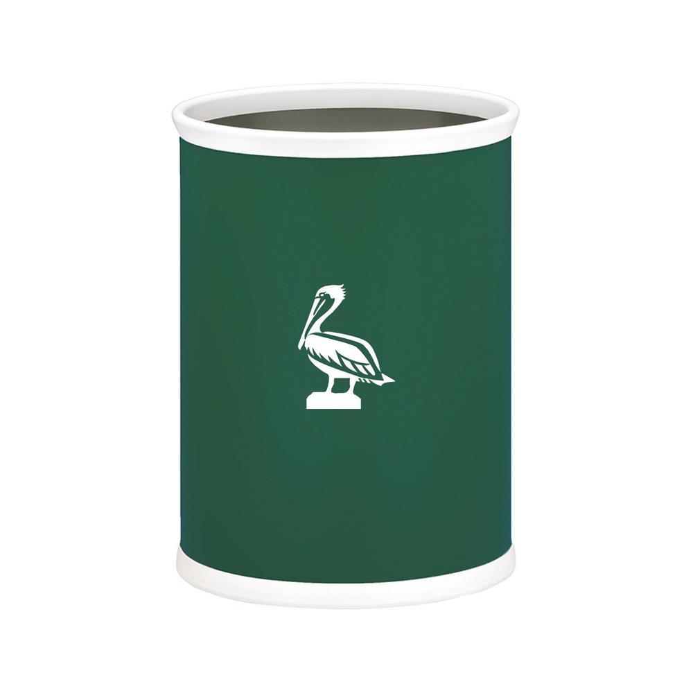 Kasualware Pelican 13 qt. Oval Waste Basket in Green