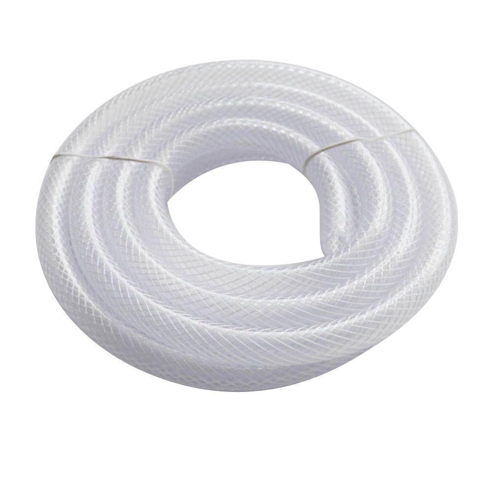 "3//4/"" Clear Reinforced Vinyl Tubing 25/' long 3//4/"" Flexible PVC Braided Hose"
