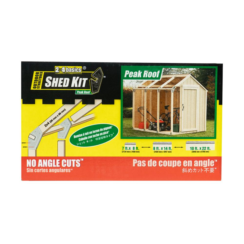 2 X 4 Basics Shed Kit With Peak Roof