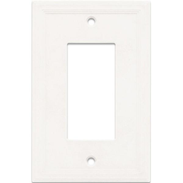 1 Gang GFCI Decorator Wall Plate - Bright White