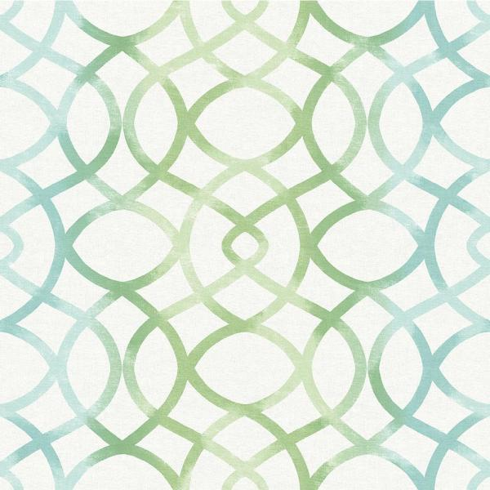 A-Street Twister Aquamarine Trellis Wallpaper