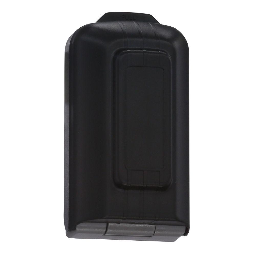 5-Key Lock Box with Pushbutton Combination Lock, Titanium