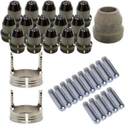 Plasma Cutter Consumables Sets for Brown LTP5000D and Brown LTPDC2000D (33-Piece)