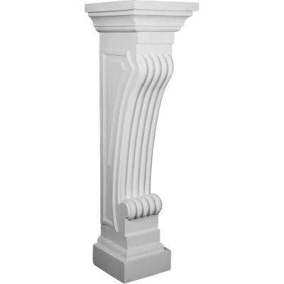 12-3/4 in. x 11-7/8 in. x 41-3/4 in. Polyurethane Queenstown Surround Moulding