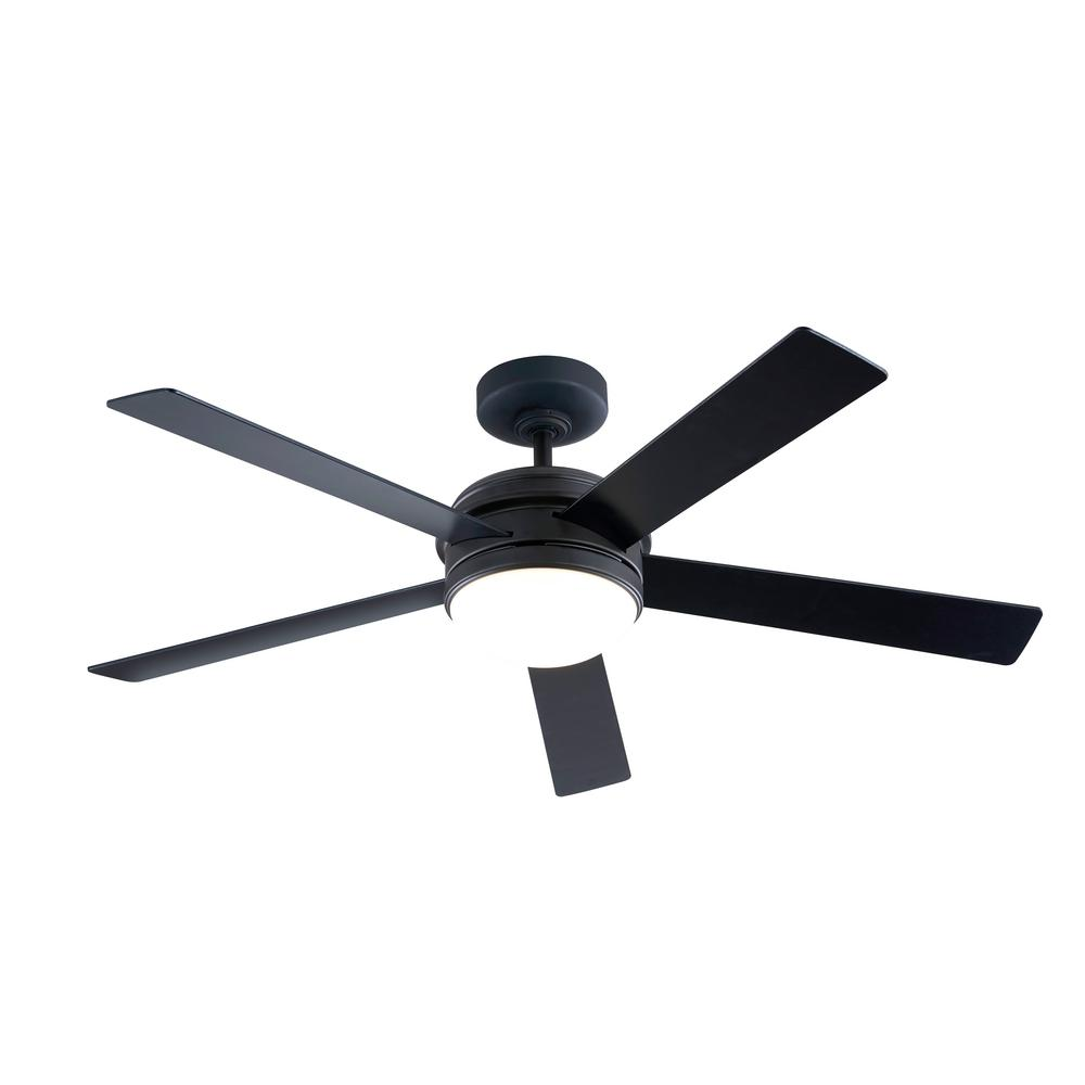 52 in. Integrated LED Indoor Oil Rubbed Bronze DC Ceiling Fan