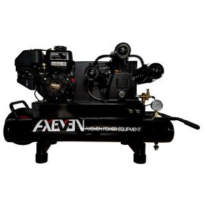 8 Gal. Wheelbarrow Portable Gas Powered Air Compressor with Kohler 6.5HP...