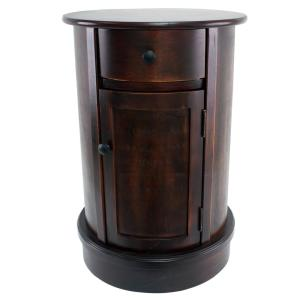 Decor Therapy Vintage Cherry 1-Door and 1-Drawer End Table by Decor Therapy