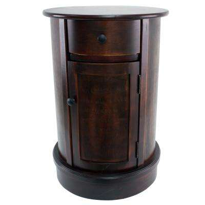 Vintage Cherry 1-Door and 1-Drawer End Table